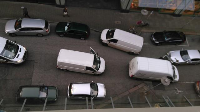 Sich gegenseitig blockierende Autos