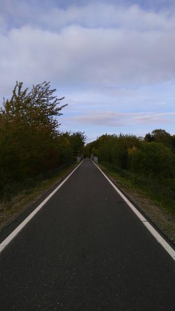 Radweg auf ehemaliger Bahnstrecke