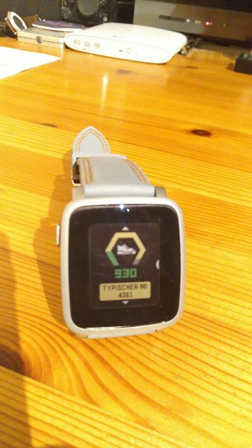 930 Schritte auf der Smartwatch