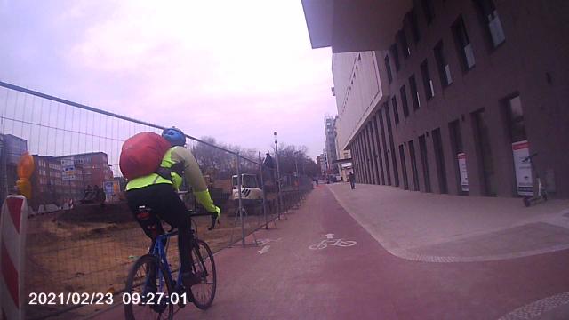 Rennradler, der mich gerade überholt
