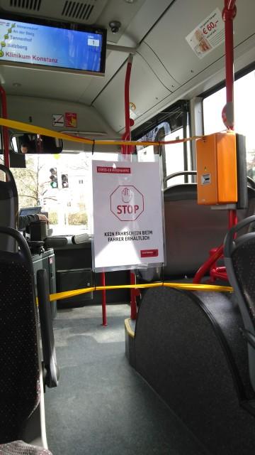 Absperrung zum Busfahrer