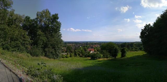 Blick auf die Burg Iburg