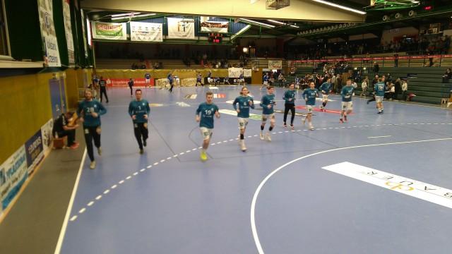 Handballspieler beim Aufwärmen