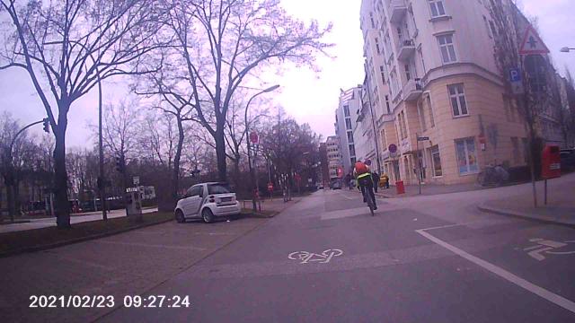 Rennradler ist immer noch in gleichem Abstand vor mir
