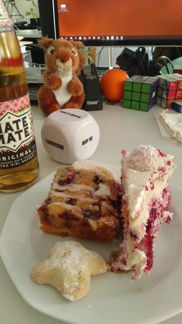 Torte. Kuchen, Kekse und Mate